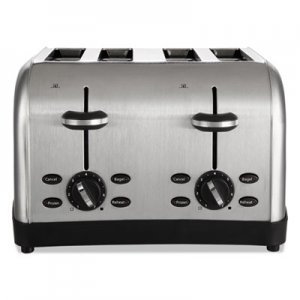 Oster Extra Wide Slot Toaster, 4-Slice, 12 3/4 x 13 x 8 1/2, Stainless Steel OSRRWF4S TSSTTRWF4SSHP
