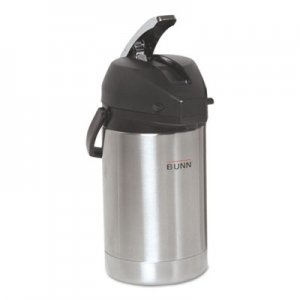 BUNN 2.5 Liter Lever Action Airpot, Stainless Steel BUNAIRPOT25 32125.0000