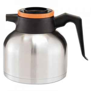 BUNN 1.9 Liter Thermal Carafe, Stainless Steel/ Black and Orange (Decaf) BUNTHERMORN 51746.0003