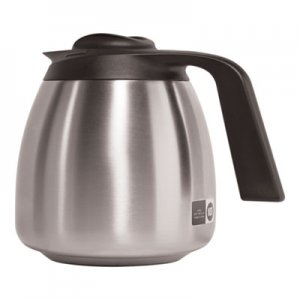BUNN 1.9 Liter Thermal Carafe, Stainless Steel/Black BUNTHERMBLK 51746.0001