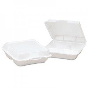Genpak Foam High Volume Hinged Container, 3-Comp, 9x9-1/4x3, White, 100/BG, 2 BG/CT GNP23300 23300---