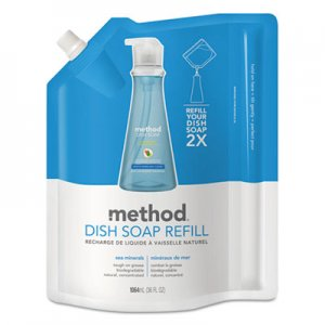 Method Dish Soap Refill, Sea Minerals, 36 oz Pouch, 6/Carton MTH01315 01315