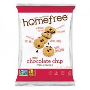 Homefree Gluten Free Chocolate Chip Mini Cookies, 1.1 oz Pack, 30/Carton HMF01873 LGFMCC30