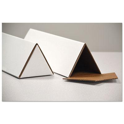 Genpak Triangular Mailing Tubes, 18l x 1/4w x 3h, White, 25/Pack UFSTTW318