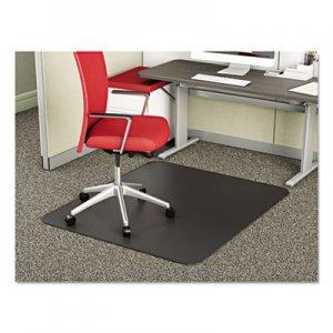deflecto SuperMat Frequent Use Chair Mat for Medium Pile Carpet, 45 x 53, Rectangular, Black DEFCM14242BLK CM14242BLK