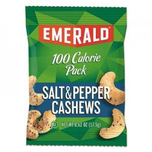 Emerald 100 Calorie Pack Nuts, Salt and Pepper Cashews, 0.62 oz Pack, 7/Box DFD33725 109191