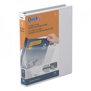 "Stride QuickFit Round-Ring View Binder, 3 Rings, 1"" Capacity, 11 x 8.5, White STW88010 88010"