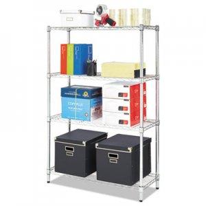 Alera Residential Wire Shelving, Four-Shelf, 36w x 14d x 54h, Silver ALESW843614SR