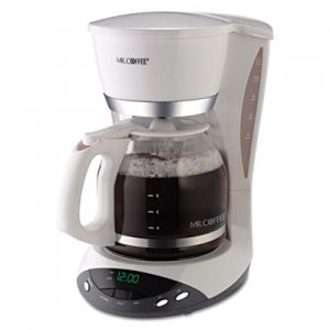 Mr. Coffee 12-Cup Programmable Coffeemaker, White MFEDWX20RB DWX20RB