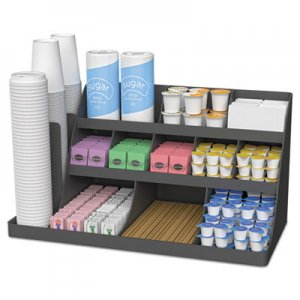 Mind Reader Extra Large Coffee Condiment and Accessory Organizer,24 x 11 4/5 x 12 1/2, Black EMSCOMORG02BLK