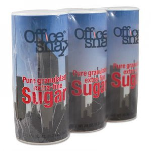 Office Snax Reclosable Canister of Sugar, 20 oz, 3/Pack OFX00019G