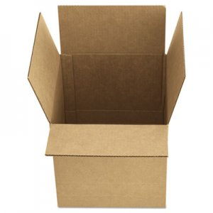 "Genpak Fixed-Depth Shipping Boxes, Regular Slotted Container (RSC), 12"" x 9"" x 6"", Brown Kraft, 25/Bundle UFS1296"