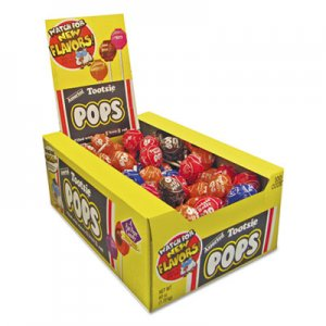 Tootsie Roll Tootsie Pops, 0.6 oz, Assorted Flavors, 100/Box TOO0508 TOO508