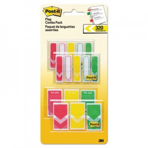 """Post-it Flags 1/2"""" and 1"""" Prioritization Page Flag Value Pack, Red/Yellow/Green, 320/Pack MMM682RYGVA 682-RYG"""