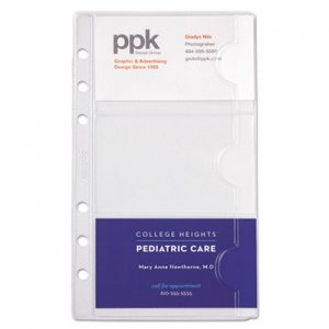Day-Timer Business Card Holders for Looseleaf Planners, 3 3/4 x 6 3/4, 5/Pack DTM87125 87125