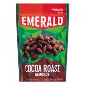 Emerald Cocoa Roasted Almonds, 5 oz Pack, 6/Carton DFD86364 109173