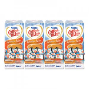 Coffee-mate Liquid Coffee Creamer, Pumpkin Spice, 0.38 oz Mini Cups, 50/Box, 4 Boxes/Carton, 200 Total/Carton