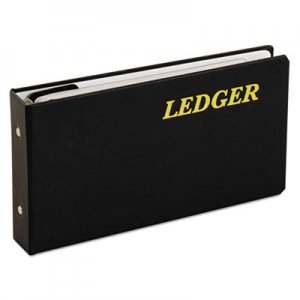 "Adams 6-Ring Ledger Binder, Round-Ring, 1"" Capacity, 10 1/2 x 5 5/8, Black ABFARB59LB ARB59LB"
