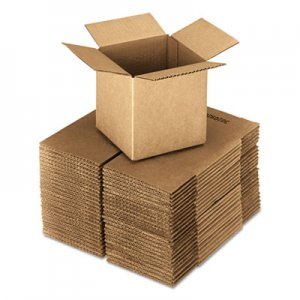 "Genpak Cubed Fixed-Depth Shipping Boxes, Regular Slotted Container (RSC), 24"" x 24"" x 24"", Brown Kraft, 10/Bundle UFS242424"