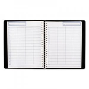 At-A-Glance Undated Four-Person Group Daily Appointment Book, 10 3/4 x 8 1/2, Black AAGG57000 G57000