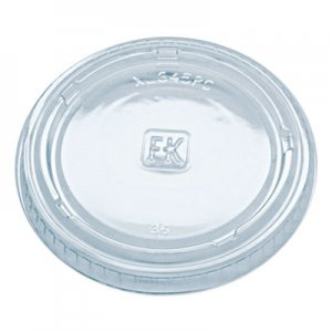 Fabri-Kal Portion Cup Lids, Fits 3.25-5.5oz Cups, Clear, 2500/Carton FABXL345PC 9505084