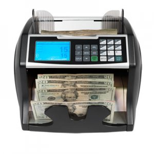 Royal Sovereign Electric Bill Counter w/Counterfeit Detection, 900-1400 Bills/Min, Black/Silver RSIRBC4500 RBC-4500