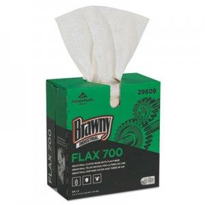 Brawny Industrial FLAX 700 Medium Duty Cloths, 9 x 16 1/2, White, 94/Box, 10 Box/Carton GPC29609 29609
