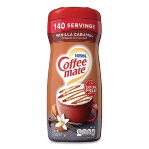 Coffee-mate Non-Dairy Powdered Creamer, Vanilla Caramel, 15 oz Canister NES49410 49410
