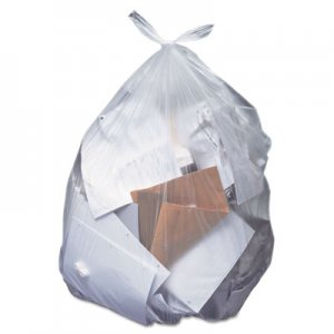Heritage Low-Density Can Liners, 55 gal, 0.7 mil, 43 x 47, Clear, 100/Carton HERH8647HC H8647HC