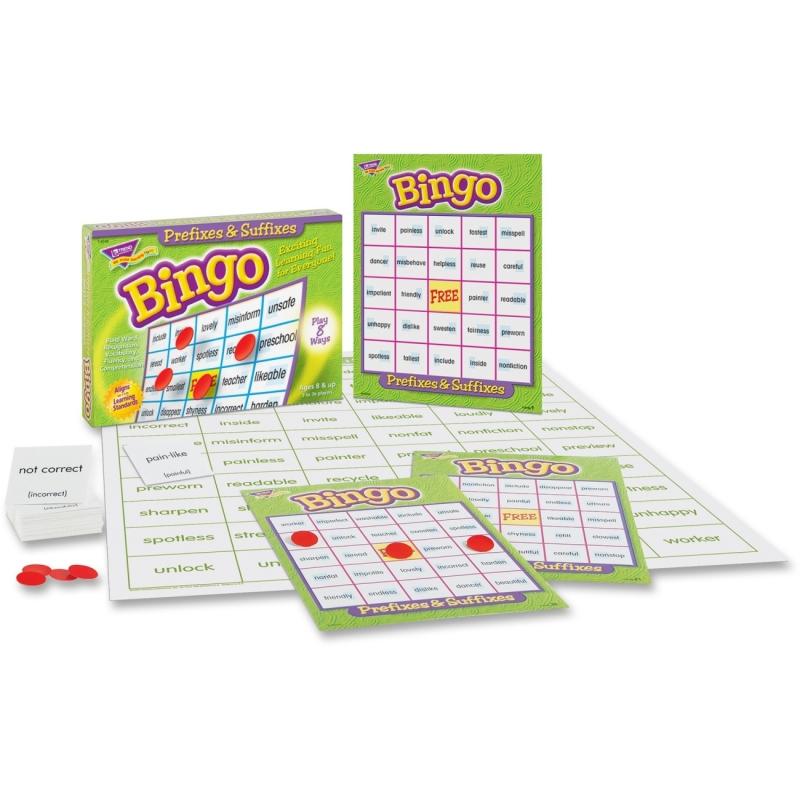 Trend Prefixes & Suffixes Bingo Game 6140 TEP6140