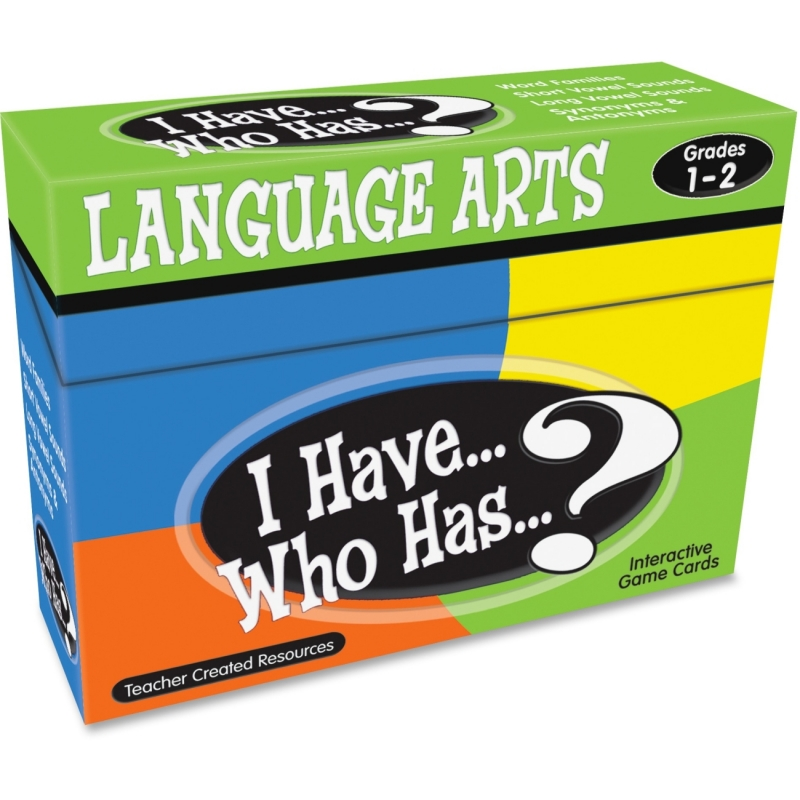 Teacher Created Resources I Have, Who Has Language Arts Game Grade 1-2 7815 TCR7815