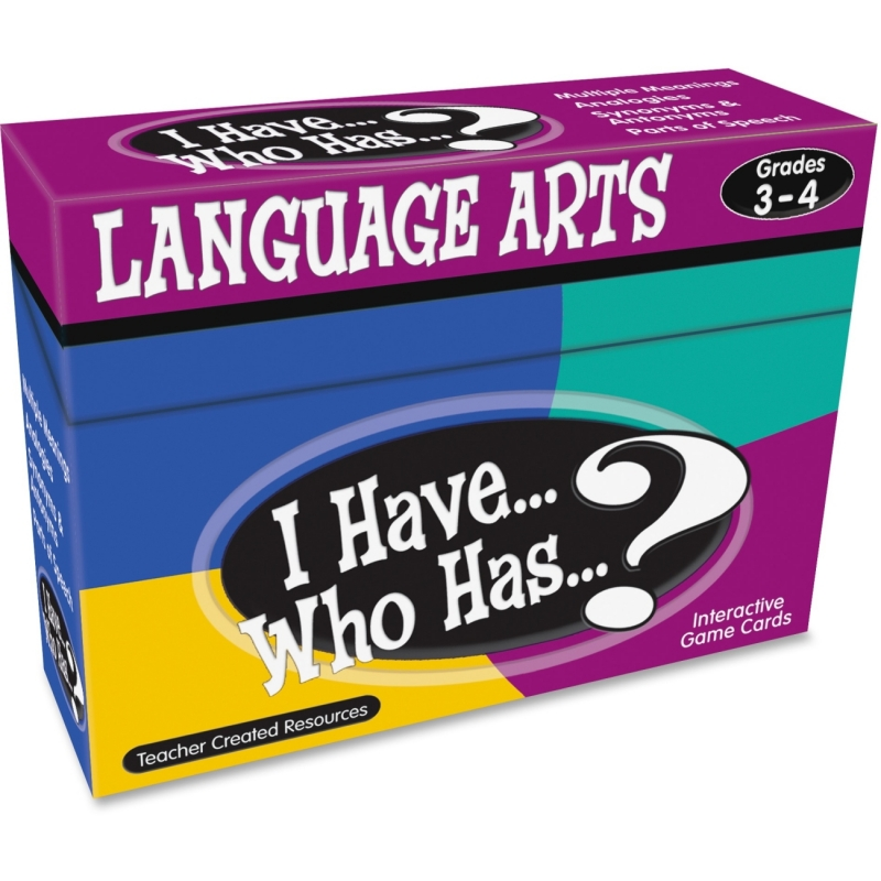 Teacher Created Resources I Have, Who Has Language Arts Game Grade 3-4 7816 TCR7816