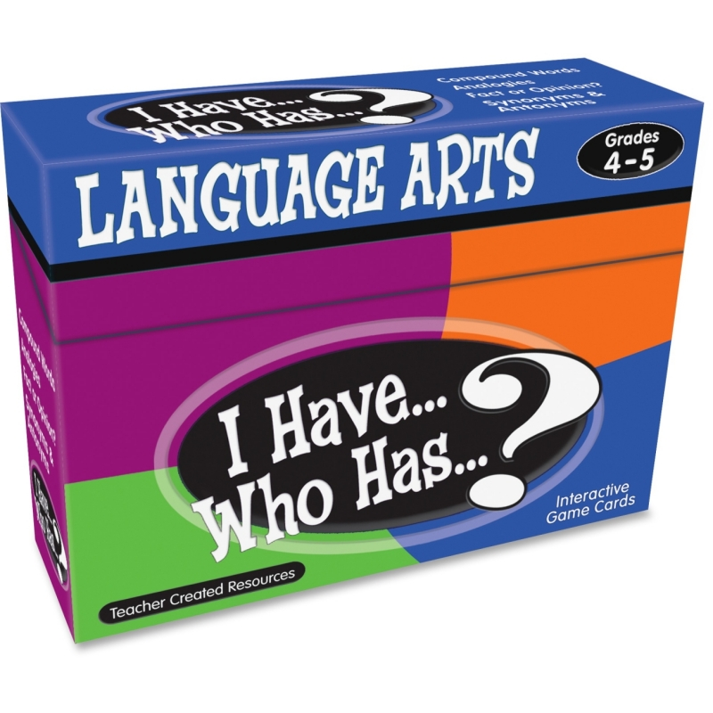 Teacher Created Resources I Have, Who Has Language Arts Game Grade 4-5 7831 TCR7831