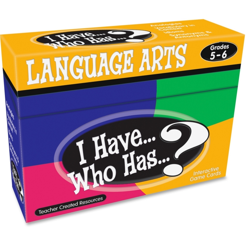 Teacher Created Resources I Have, Who Has Language Arts Game Grade 5-6 7832 TCR7832