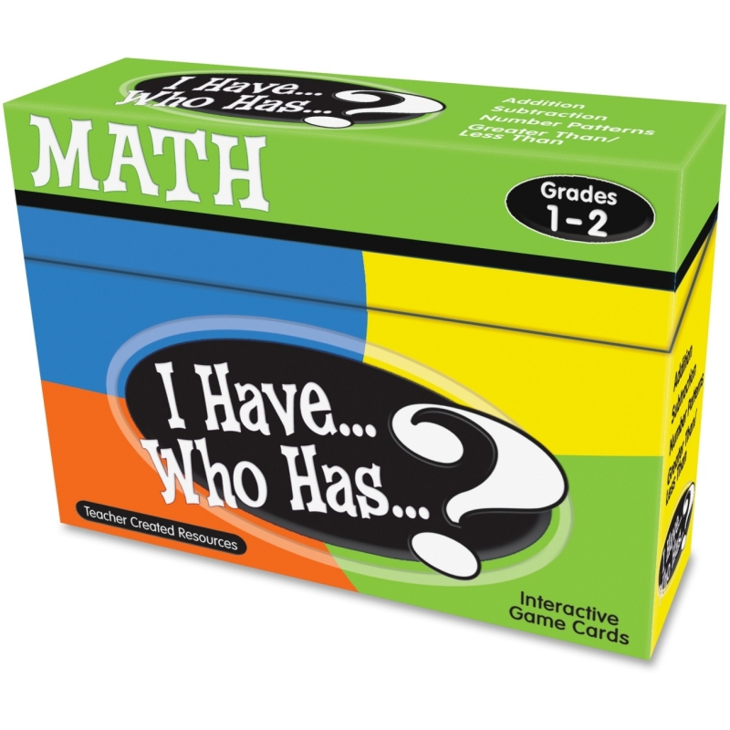 Teacher Created Resources I Have, Who Has Math Game Grade 1-2 7817 TCR7817