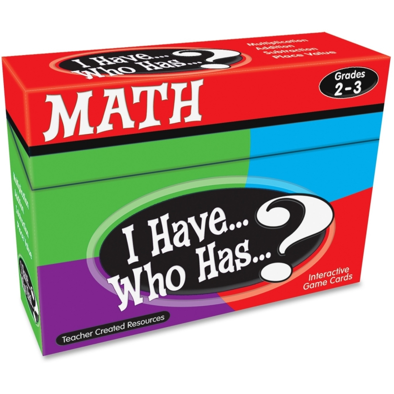 Teacher Created Resources I Have, Who Has Math Game Grade 2-3 7818 TCR7818