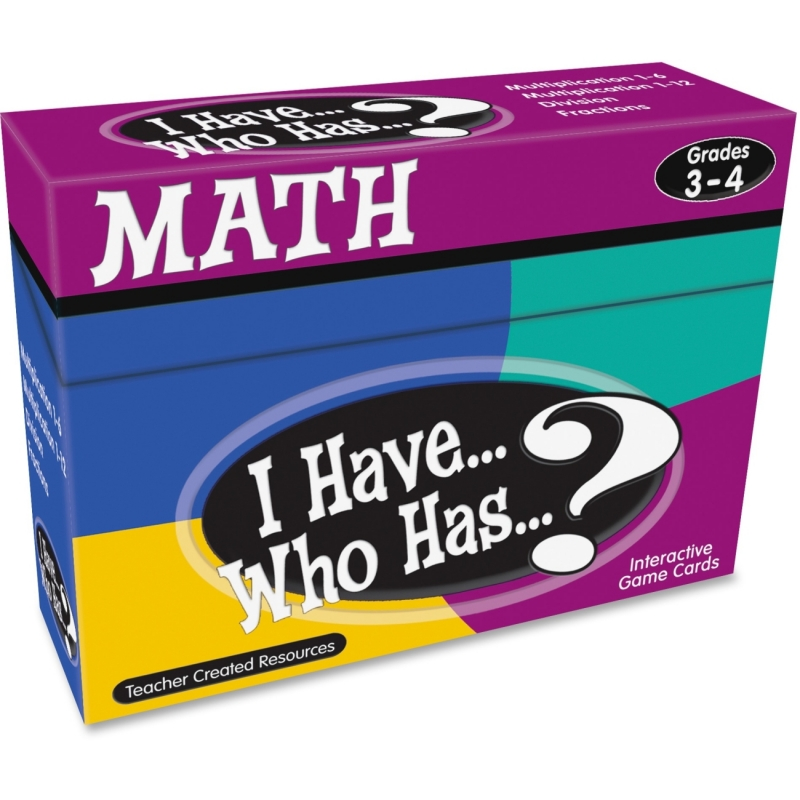 Teacher Created Resources I Have, Who Has Math Game Grade 3-4 7819 TCR7819
