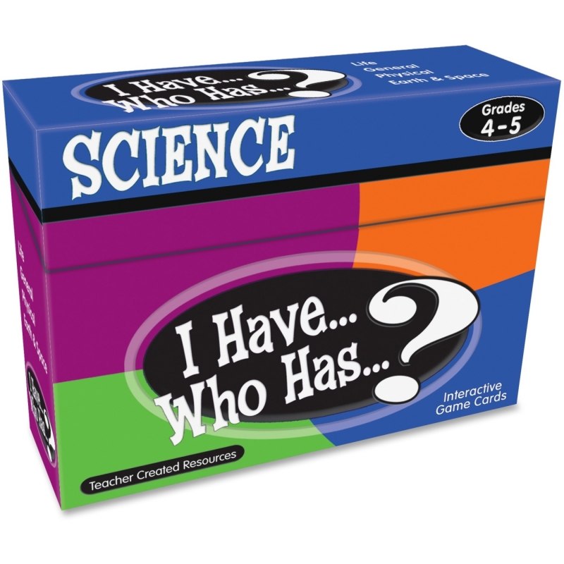 Teacher Created Resources I Have, Who Has Science Game Grade 4-5 7858 TCR7858