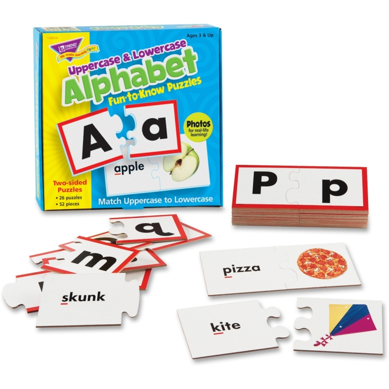 Trend Uppercase & Lowercase Alphabet Fun-to-Know Puzzles 36010 TEP36010