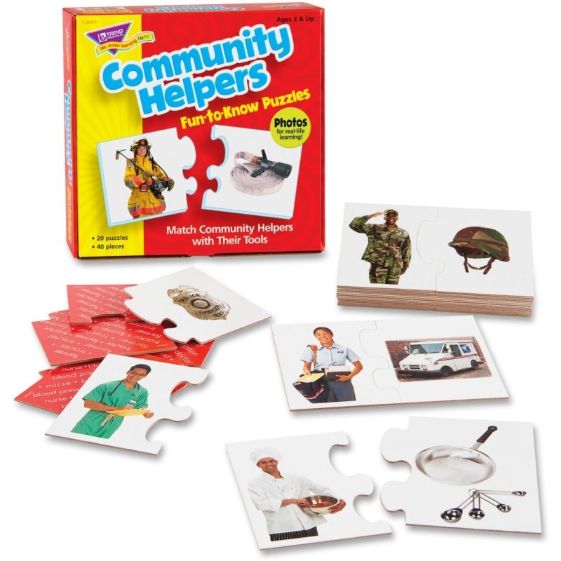 Trend Community Helpers Fun-to-Know Puzzles 36011 TEP36011