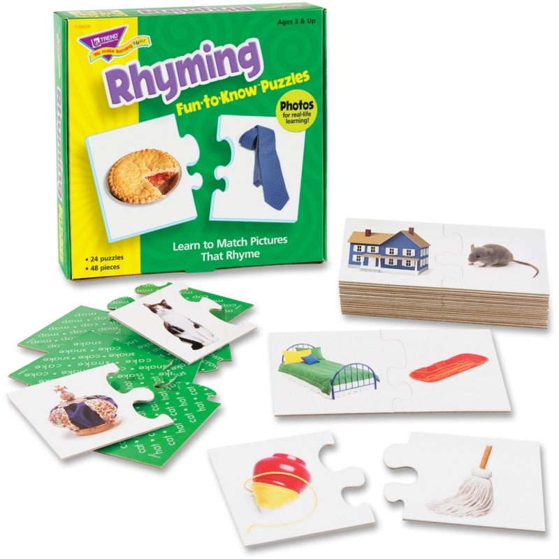 Trend Rhyming Fun-to-Know Puzzles 36009 TEP36009