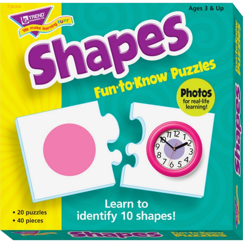 Trend Shapes Fun-to-Know Puzzles 36008 TEP36008