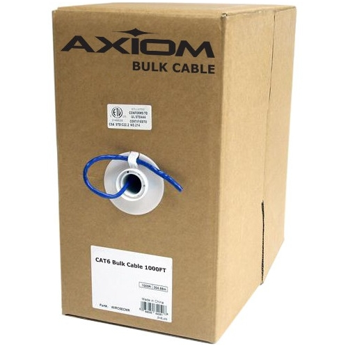 Axiom CAT5e Plenum Bulk Cable Spool 1000FT (White) C5EBCSW1000P-AX