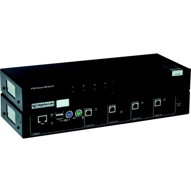 SmartAVI 4-Port Secure Keyboard & Mouse Switch K304-SH