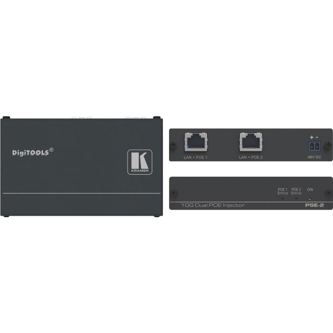 Kramer 10Gb UHD Power over Ethernet Injector PSE-2