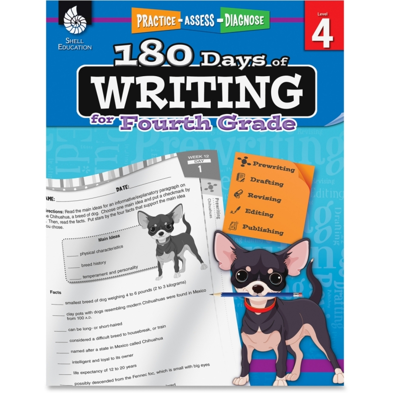 Shell 4th Grade 180 Days of Writing Book 51527 SHL51527