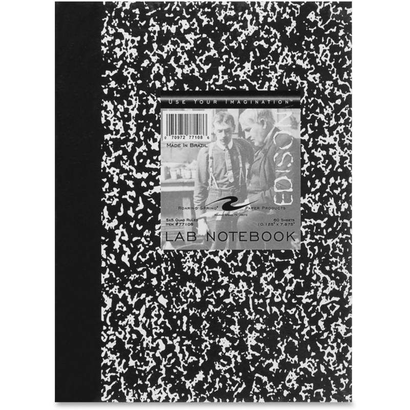 "Roaring Spring Marble Lab Book 10""x8"" 5x5 77108 ROA77108"