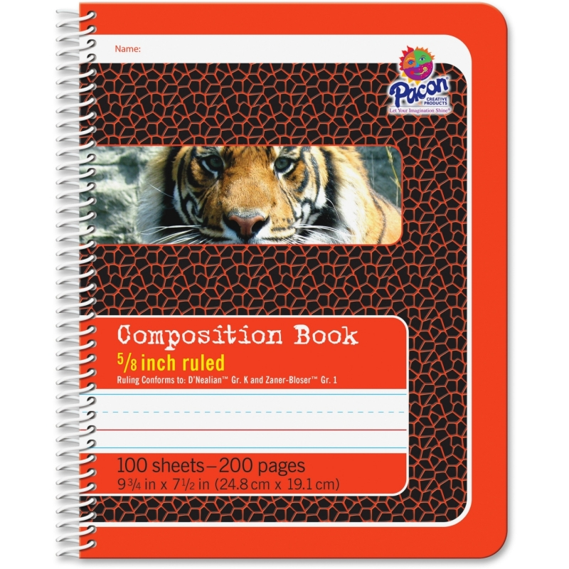 "Pacon 1/2"" Short Way Ruled Composition Book 2432 PAC2432"