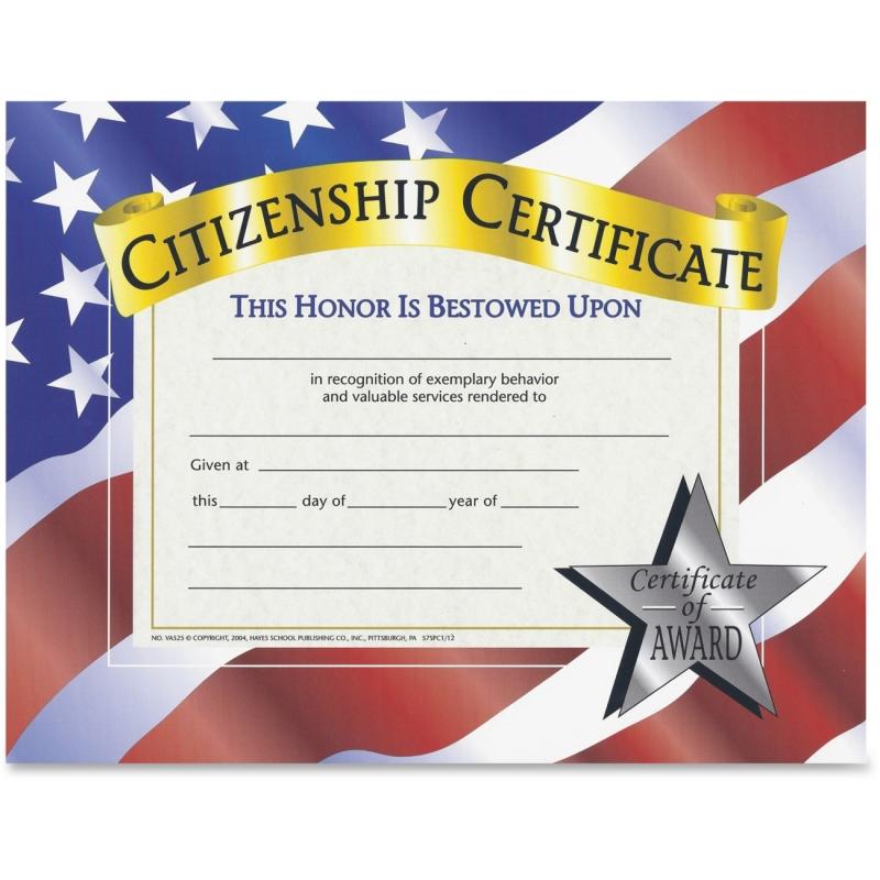 Flipside Citizenship Certificate VA525 FLPVA525
