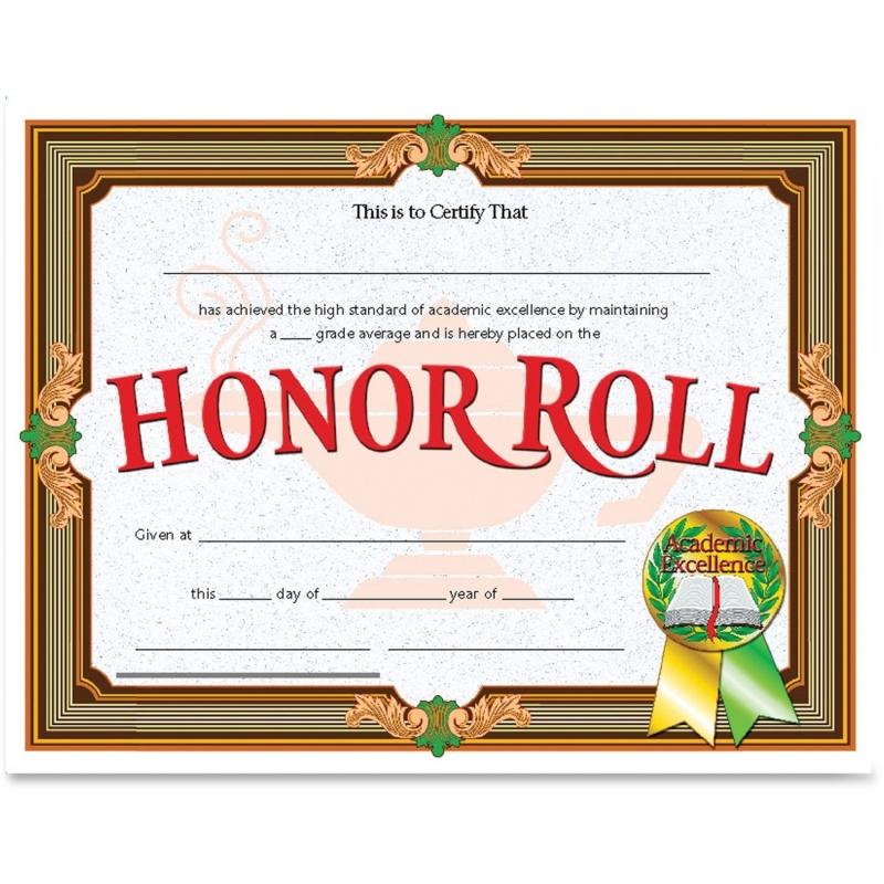 Flipside Honor Roll Certificate VA612 FLPVA612